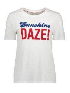 Only T-shirt ONLVAYA REG S/S TOP BOX CO/SL JRS 15182865 White/SUNSHINE D