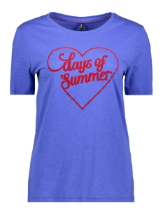 Only T-shirt ONLVAYA REG S/S TOP BOX CO/SL JRS 15182865 Dazzling Blue/ DAY OF SUN