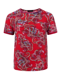 vedette top dayz t-shirt red multi