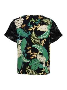 onllima s/s v neck top wvn 15176472 only t-shirt black/disco jungle