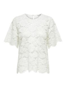 onlalexandra s/s top wvn 15171234 only t-shirt cloud dancer