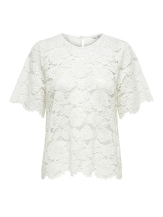 Only T-shirt ONLALEXANDRA S/S TOP WVN 15171234 Cloud Dancer
