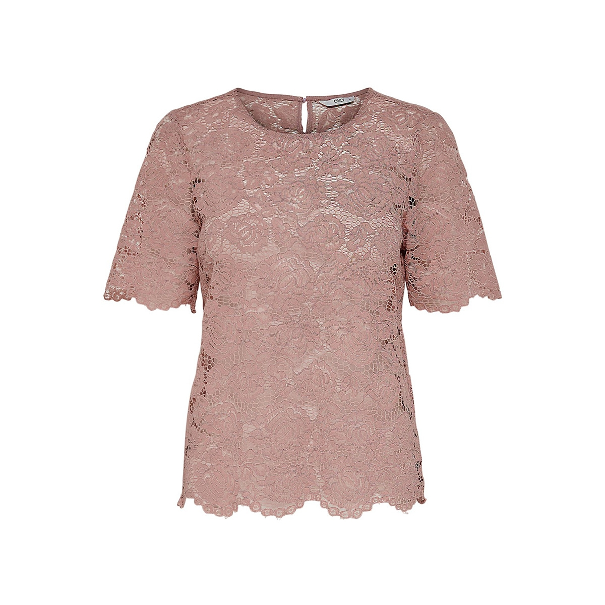onlalexandra s/s top wvn 15171234 only t-shirt adobe rose