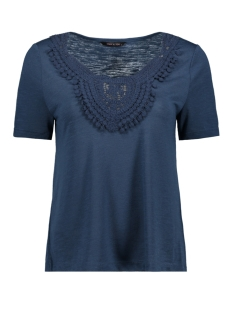 onyisa s s crochet top jrs 15178093 only t-shirt insignia blue