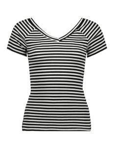 Only T-shirt ONYLABELLA S S V NECK TOP JRS 15178098 Bright White/BLACK