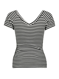 onylabella s s v neck top jrs 15178098 only t-shirt bright white/black