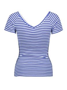 onylabella s s v neck top jrs 15178098 only t-shirt cloud dancer/dazzling blue
