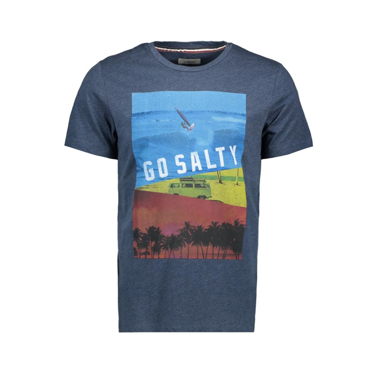 pktgms poetry tee ss 12153816 produkt t-shirt dark demin/melange
