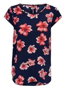 onlnova lux aop s/s top 5 wvn 15177698 only blouse night sky/berlin flower