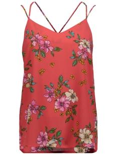 Jacqueline de Yong Top JDYTRICK TREATS SINGLET WVN 15174352 Cayenne/PINK FLOWER