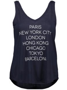 jdycity icon strap print top jrs 15175246 jacqueline de yong top navy blazer/cities