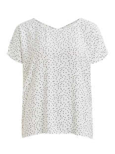 Object T-shirt OBJCLARISSA S/S TOP 103 23029806 Gardenia/W. BLACK DOTS