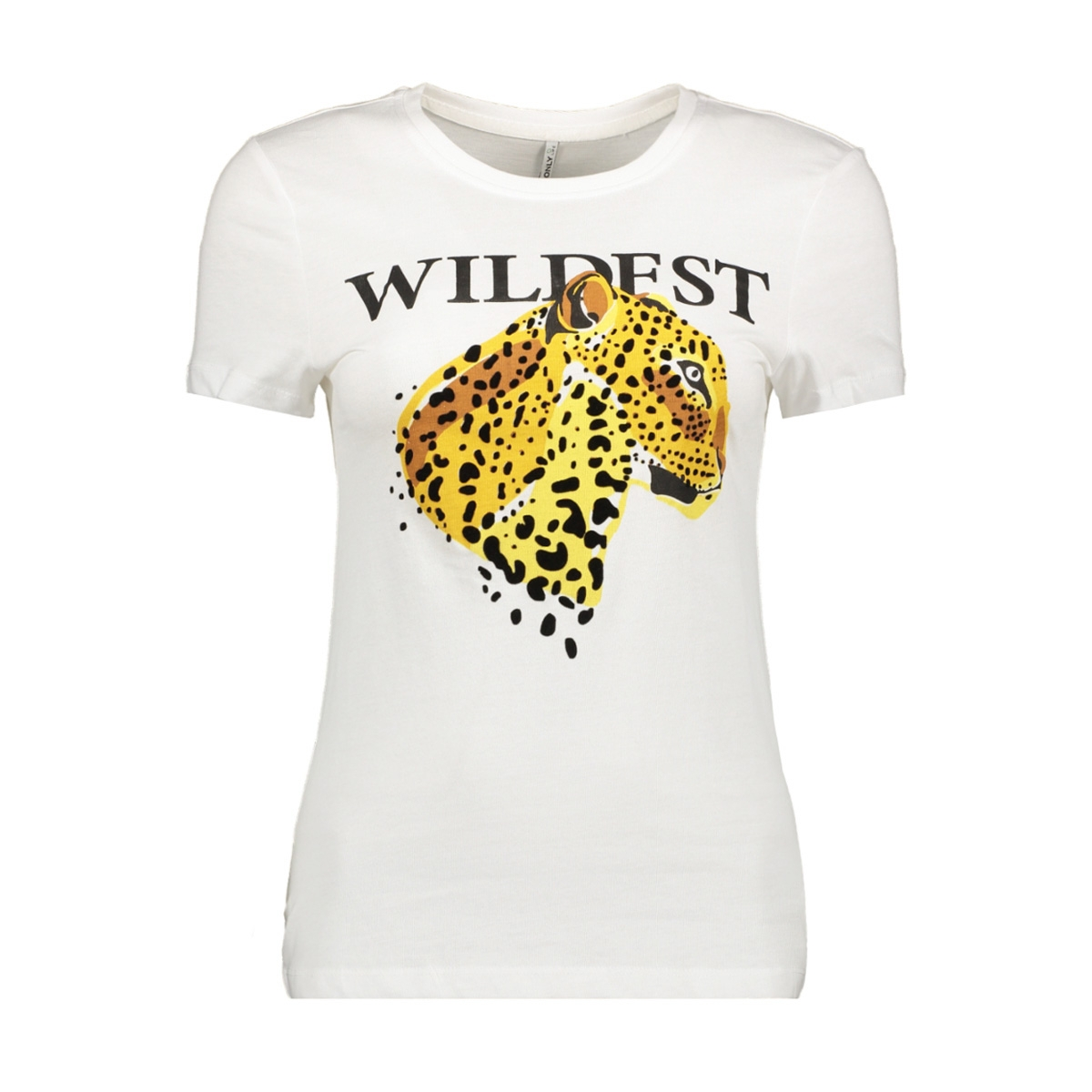 onlflea fit s/s leo top box co jrs 15183203 only t-shirt bright white/wildest
