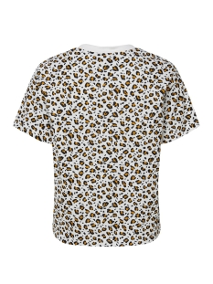 onlfanimal s/s top box jrs 15182697 only t-shirt cloud dancer/leo