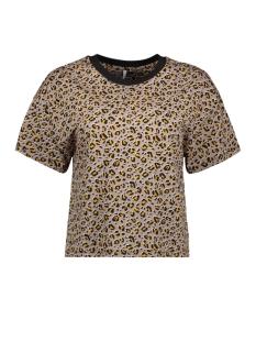 onlfanimal s/s top box jrs 15182697 only t-shirt chinchilla/leo 2