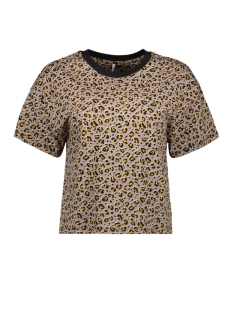 Only T-shirt ONLFANIMAL S/S TOP BOX JRS 15182697 Chinchilla/LEO 2