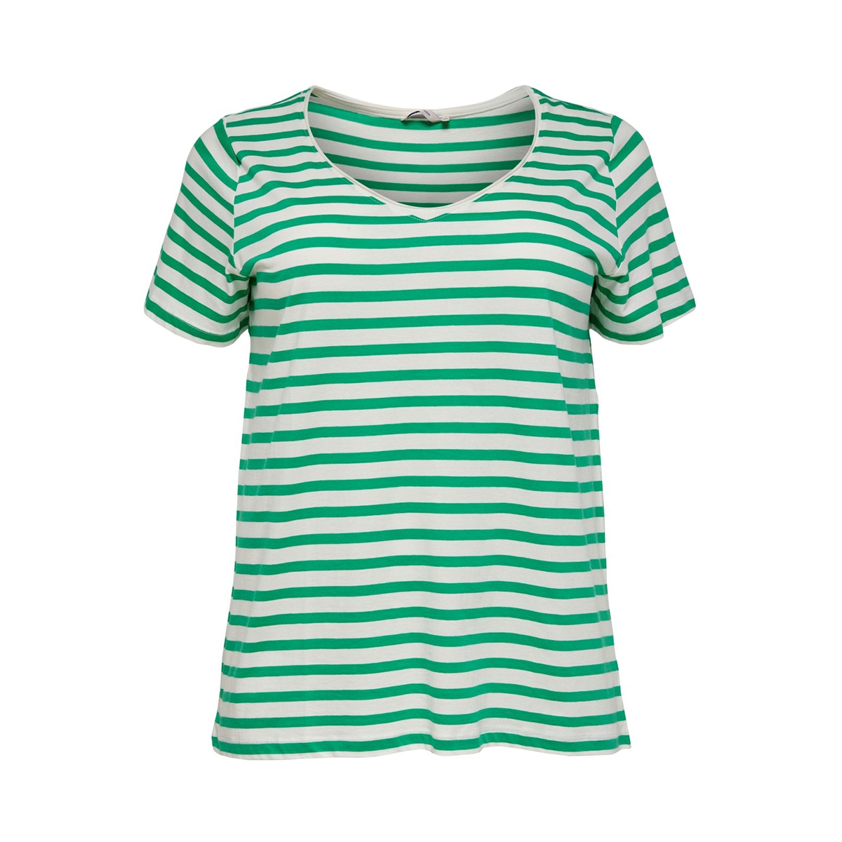 carlife v-neck ss tee sus 15176909 only carmakoma t-shirt simply green/cloud dancer