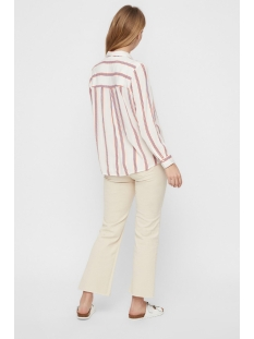 vmhanna ls v-neck top lcs 10214405 vero moda blouse snow white/emberglow