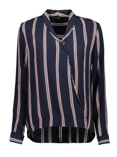 vmhanna ls v-neck top lcs 10214405 vero moda blouse night sky/snow white