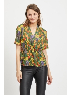 objally s/s top 103 23029683 object blouse black forest/aop