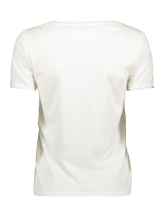 onlhappy detail s/s t-shrit jrs 15186999 only t-shirt white/perfect ta