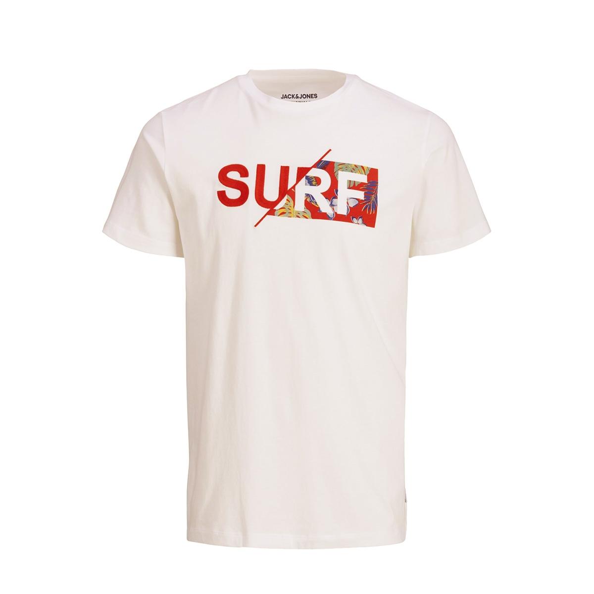 jorwavy tee ss crew neck 12152663 jack & jones t-shirt cloud dancer/reg
