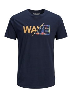 Jack & Jones T-shirt JORWAVY TEE SS CREW NECK 12152663 Total Eclipse/REG