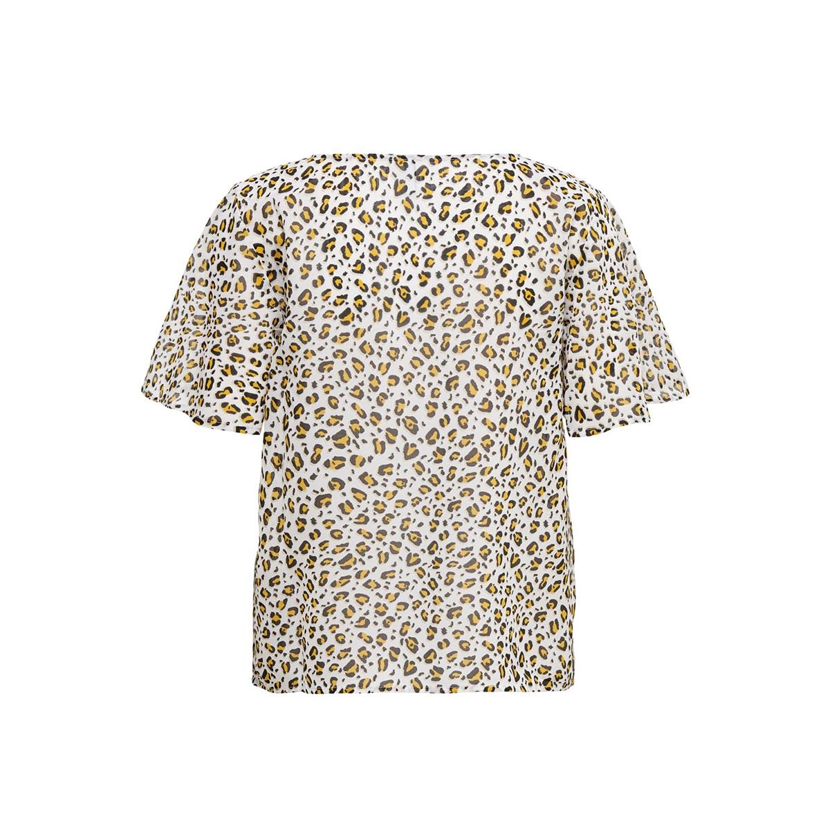 onlfova life ss top wvn 15180647 only t-shirt cloud dancer/leo life