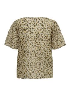 onlfova life ss top wvn 15180647 only t-shirt chinchilla/leo life