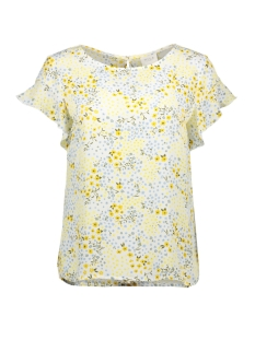 vilucy s s flounce top  fav lux 14049944 vila blouse powder blue/primerose