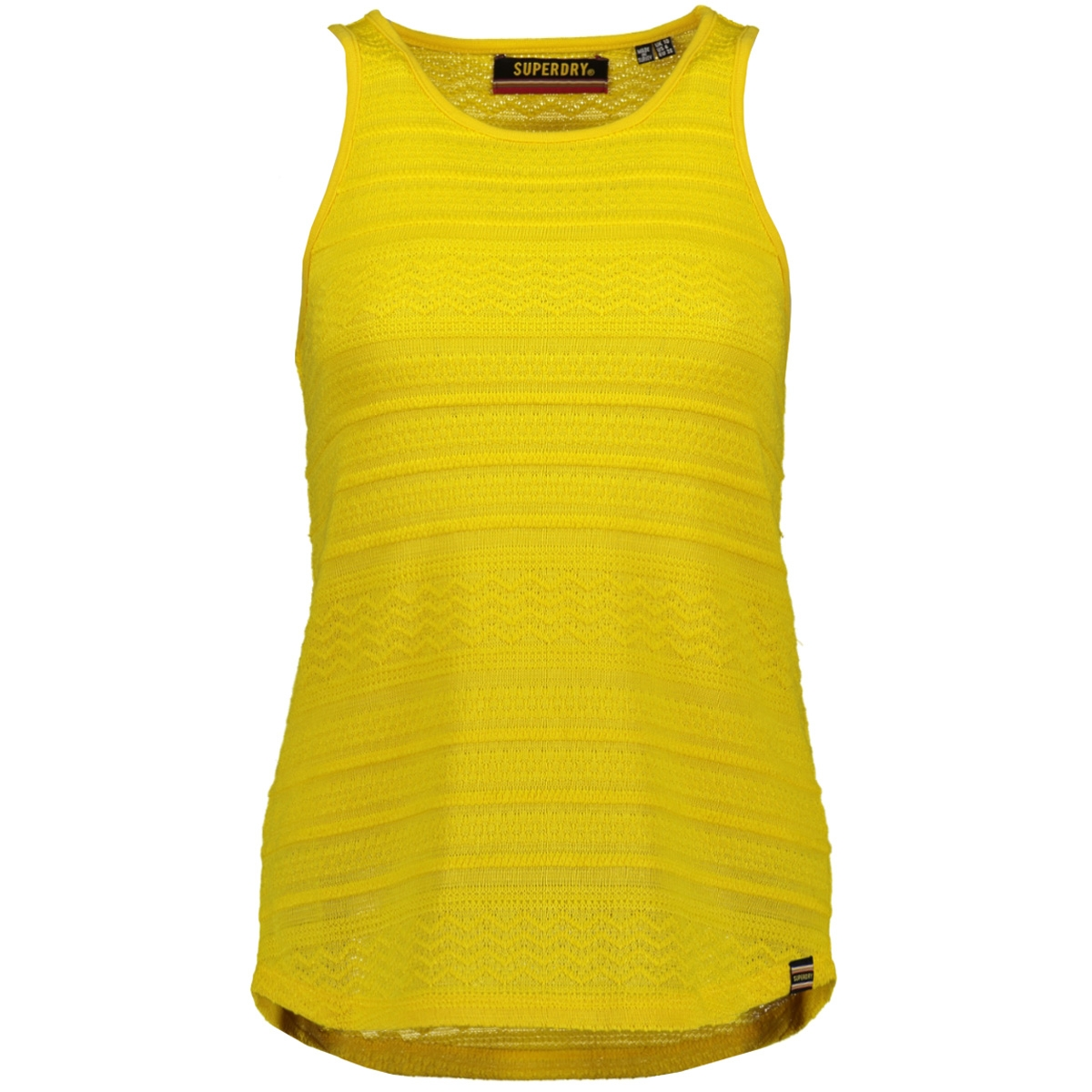 leya textured vest g60802su superdry top vibrant yellow