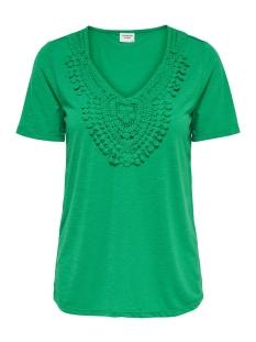 Jacqueline de Yong T-shirt JDYDODO S/S TOP JRS 15154568 Simply Green/DTM CROCHE
