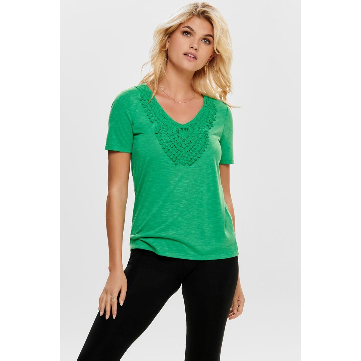jdydodo s/s top jrs 15154568 jacqueline de yong t-shirt simply green/dtm croche