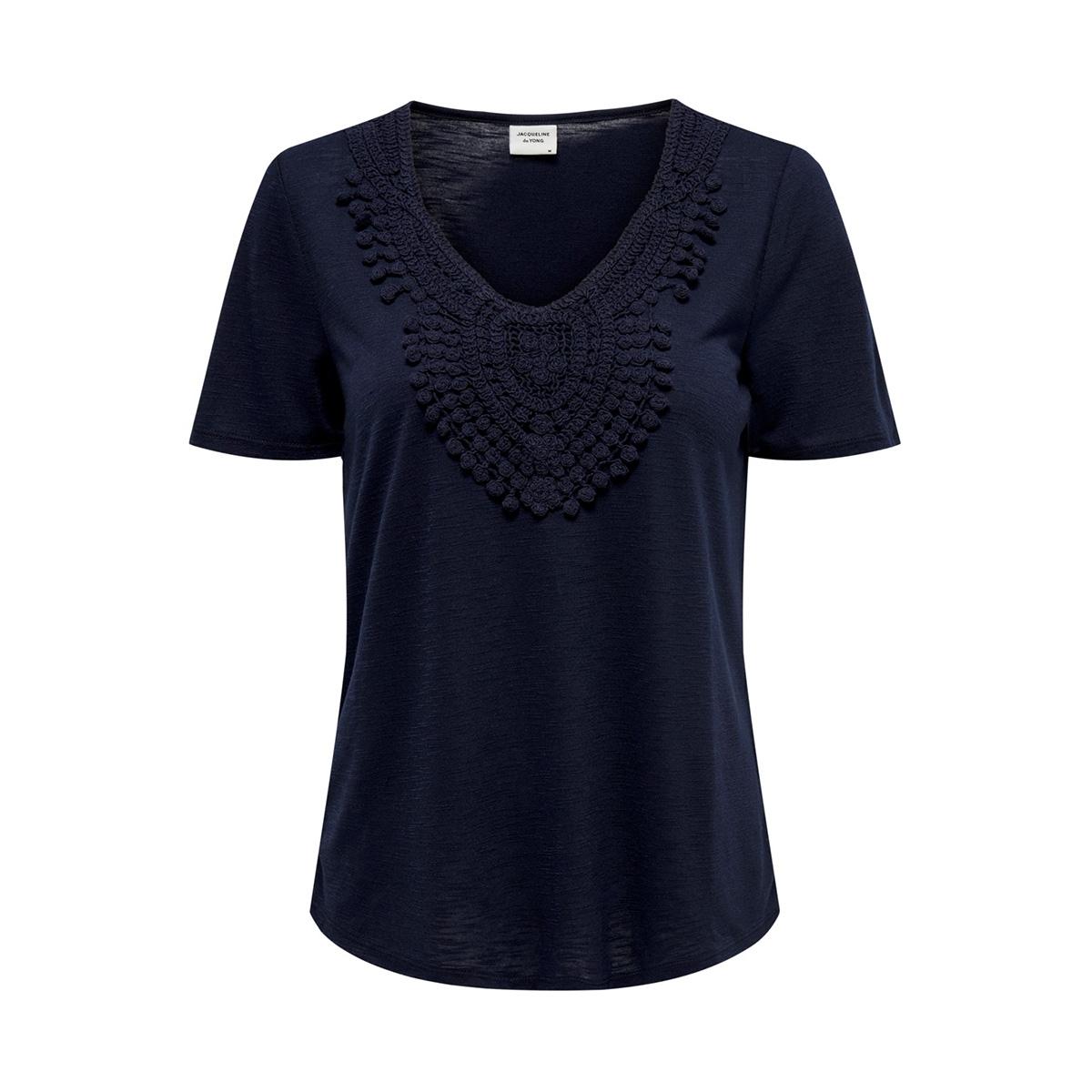 jdydodo s/s top jrs 15154568 jacqueline de yong t-shirt navy blazer/dtm croche