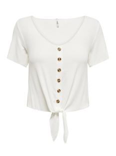 onlminka s/s knot top jrs 15179392 only t-shirt cloud dancer