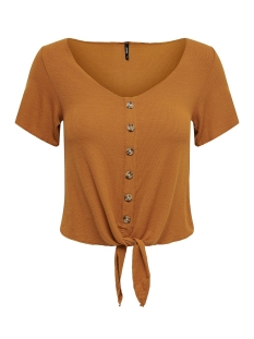 Only T-shirt ONLMINKA S/S KNOT TOP JRS 15179392 Sugar Almond