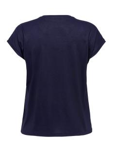 carflake s/s mix top ess 15178278 only carmakoma t-shirt night sky