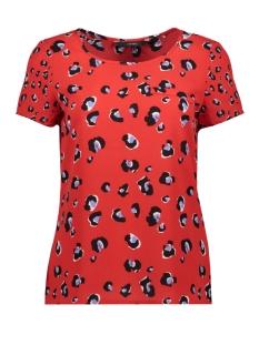 vmsasha leo ss top wvn lcs 10221199 vero moda t-shirt chinese red/leona
