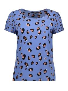 Vero Moda T-shirt VMSASHA LEO SS TOP WVN LCS 10221199 Granada Sky/LEONA