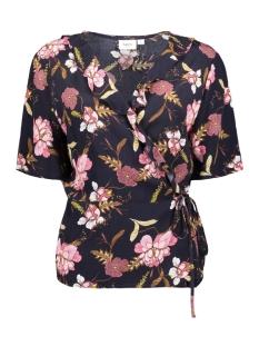 Saint Tropez T-shirt T1142 WOVEN TOP SS SLEEVE 9069
