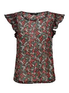 onlfmisha ss top wvn 15178880 only t-shirt black/neon summer