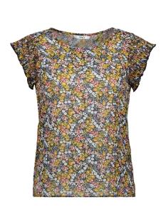 Only T-shirt ONLFMISHA SS TOP WVN 15178880 Night Sky/NEON SUMMER