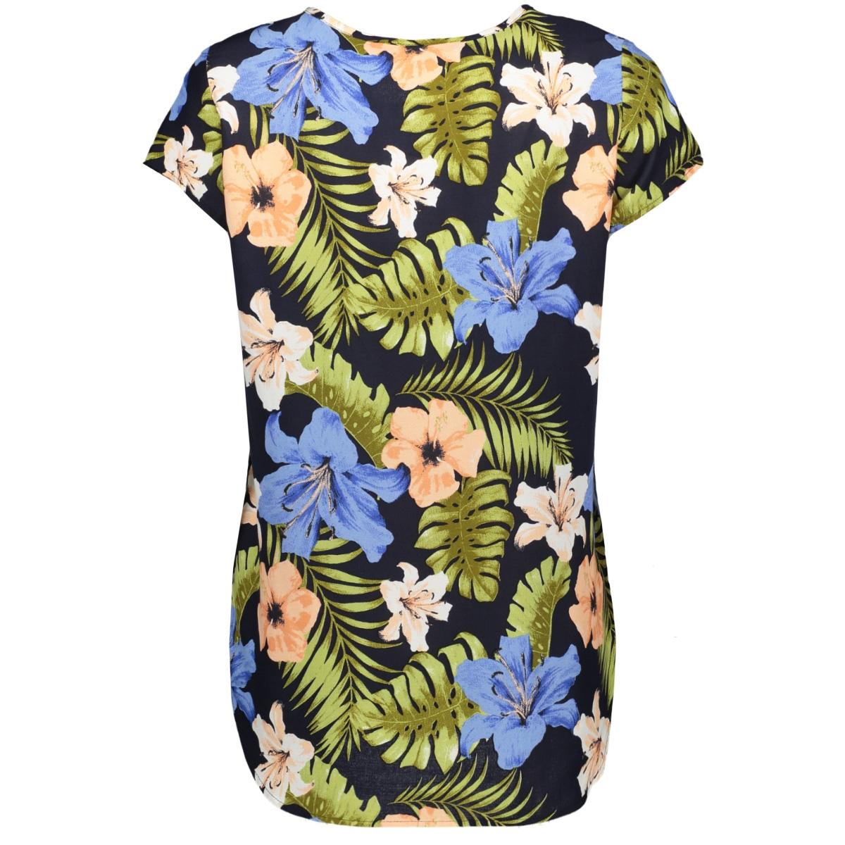 vmboca ss blouse multi aop 10132802 vero moda t-shirt night sky/effie aop