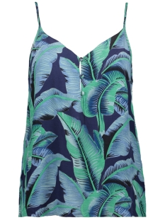 Pieces Top PCNADINE SLIP TOP 17098130 Maritime Blue/LEAFS