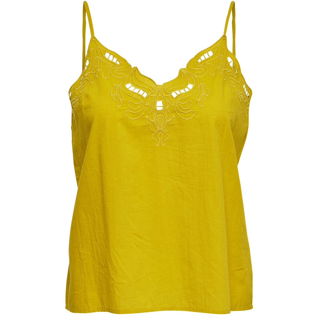 onlsixty sl broderi anglais top fan 15179099 only top ceylon yellow