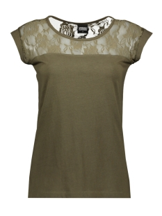 Urban Classics T-shirt LADIES TOP LACES TEE TB714 OLIVE