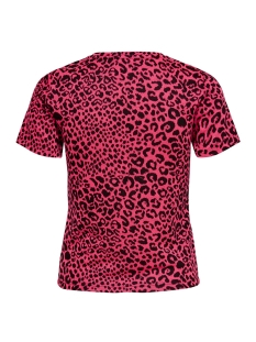 onlnete s/s o-neck top cs jrs 15194034 only t-shirt neon pink/leo