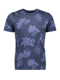 jorrossi tee ss crew neck 12164664 jack & jones t-shirt mood indigo/slim