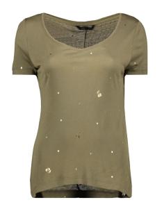 onyiris s/s v-neck top jrs 15178102 only t-shirt tarmac/gold cherry