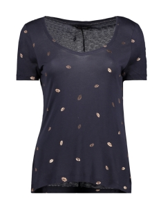 onyiris s/s v-neck top jrs 15178102 only t-shirt night sky/gold lips